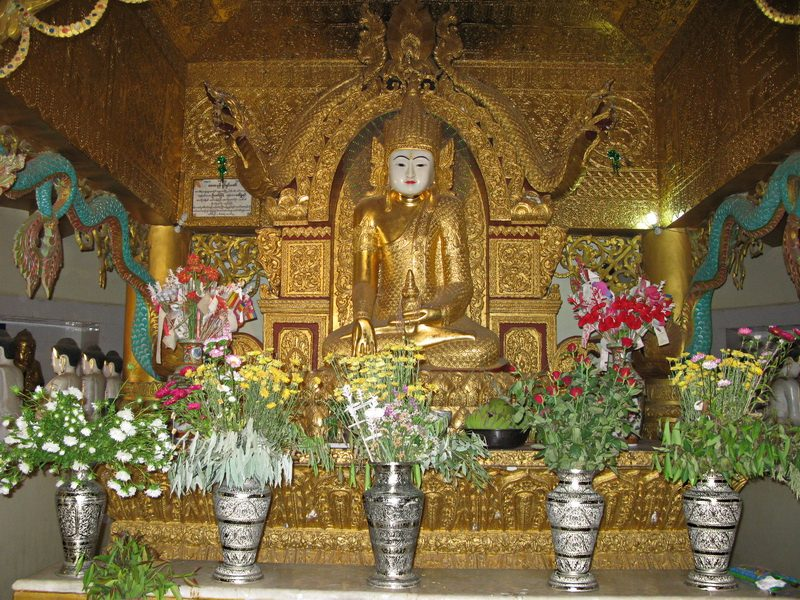 Alter inside Mya Kyauk Monastery in Mandalay