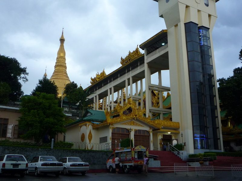 Alternative entrance to Shwedagon Pagoda Via Lift