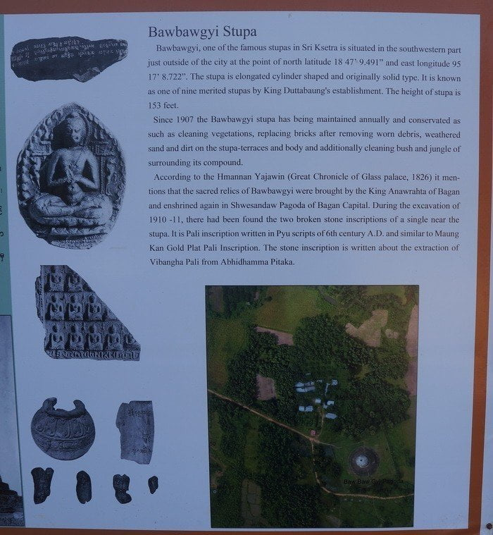 Archeological information on Bawbawgyi Stupa