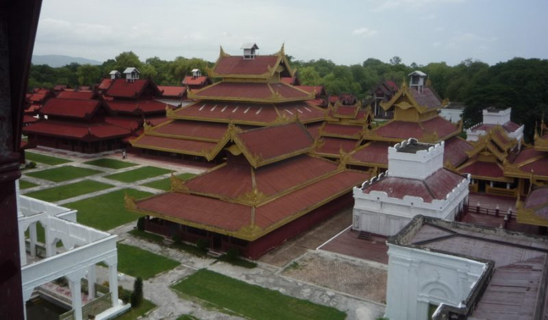 Overlooking Mandalay Palace from Watchtower