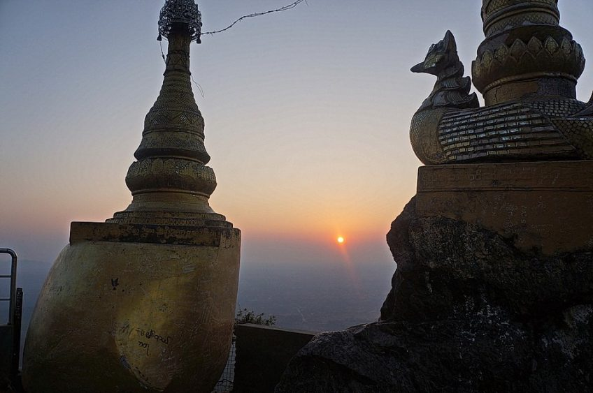 Sundown on Mount Popa's Nat Shrine
